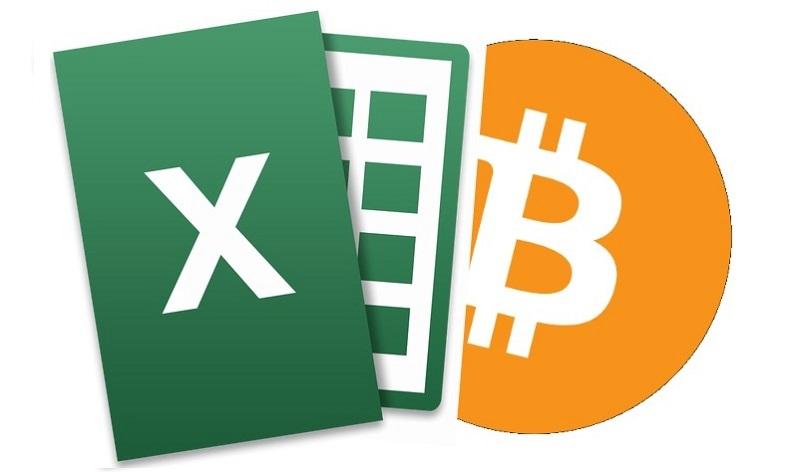 Транзакция bitcoin через Exel