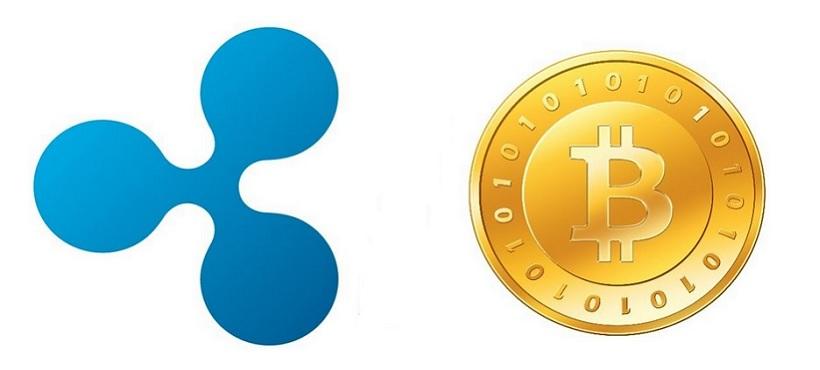Криптовалюты Ripple и Bitcoin